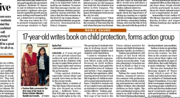 17-year-old writes book on child protection, forms action group